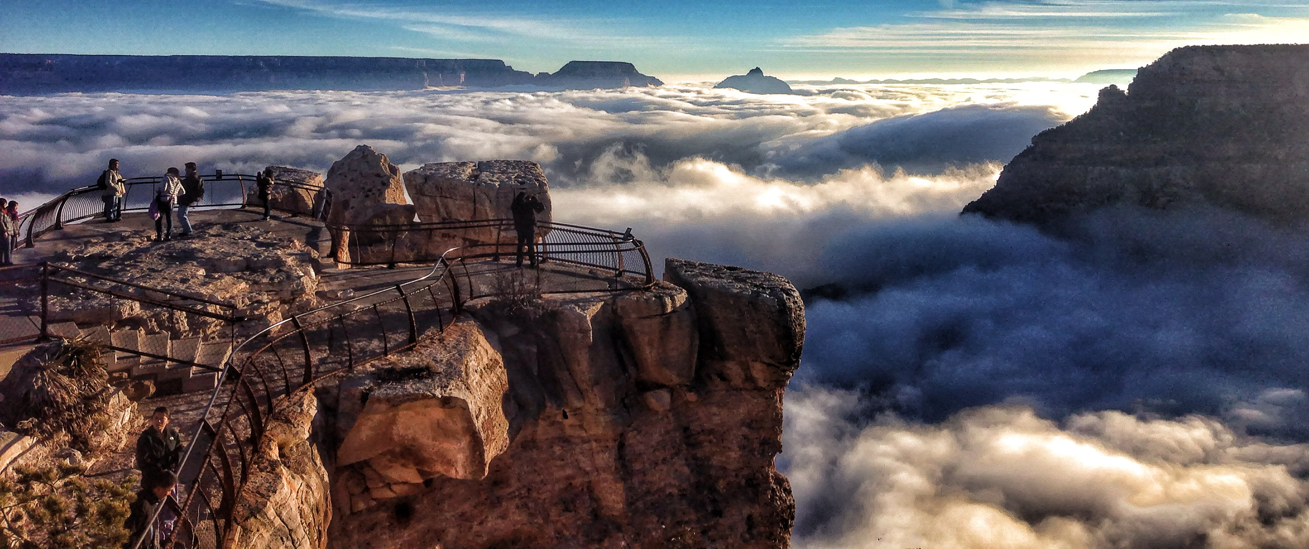 Grand Canyon National Park Cloud Inversion: November 29, 2013